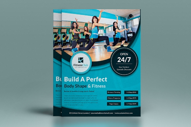 Gym Flyer Design Idea