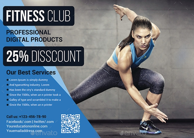 Elegant Gym Flyer Design