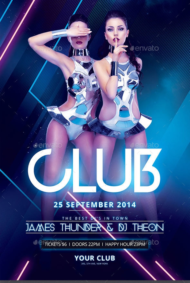 Blue Light Club Flyer