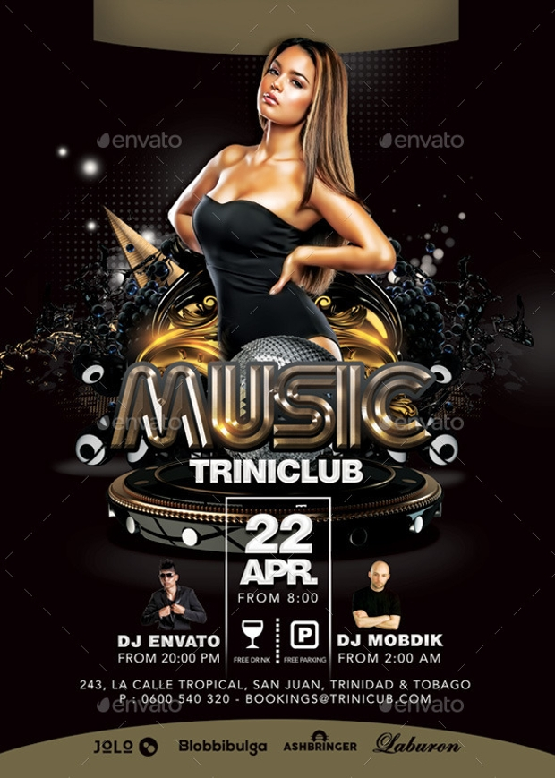 Music Triniclub Club Flyer