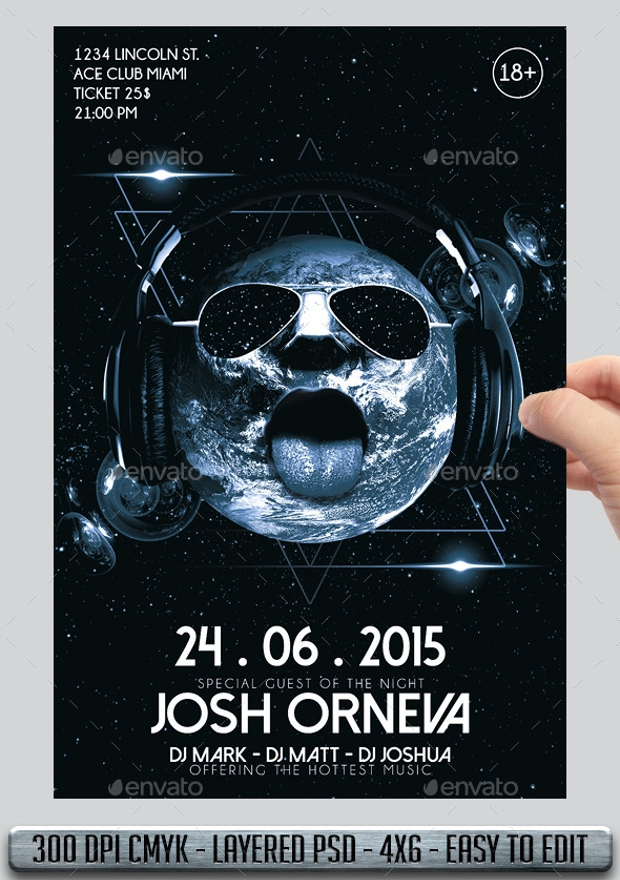 Josh Orneva Club Flyer