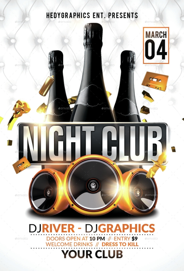 Club Flyer Psd Designs  Design Trends  Premium Psd Vector