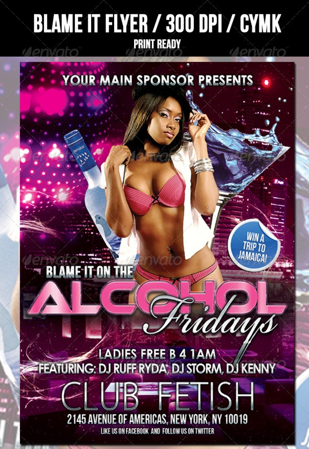 Alcohol Friday Flyer
