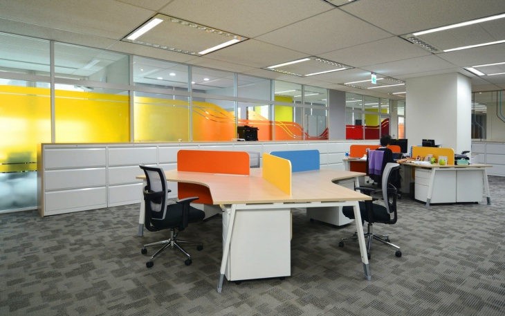 Colorful Wall Decor Design for Office