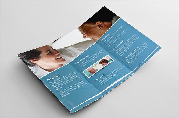 hospital clinic brochure design