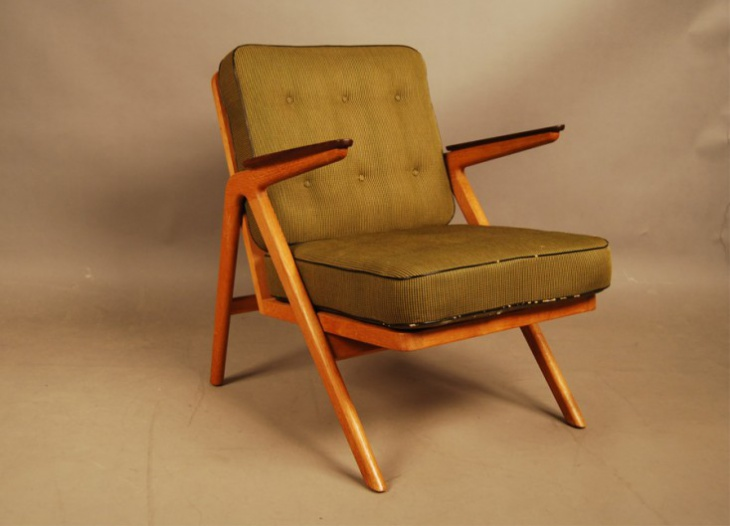 Danish Vintage Teak and Oak Easy Chair