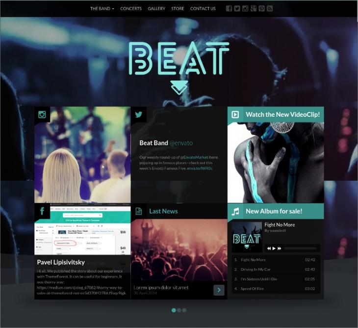 Beat Music CMS Template