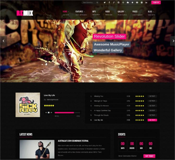 HTML 5 Music Website Template