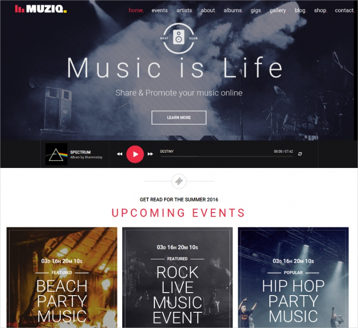 Music Band & Musician Template