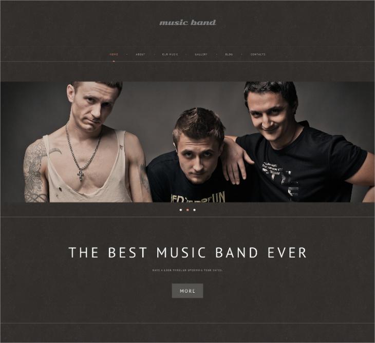 Music Band WordPress Theme