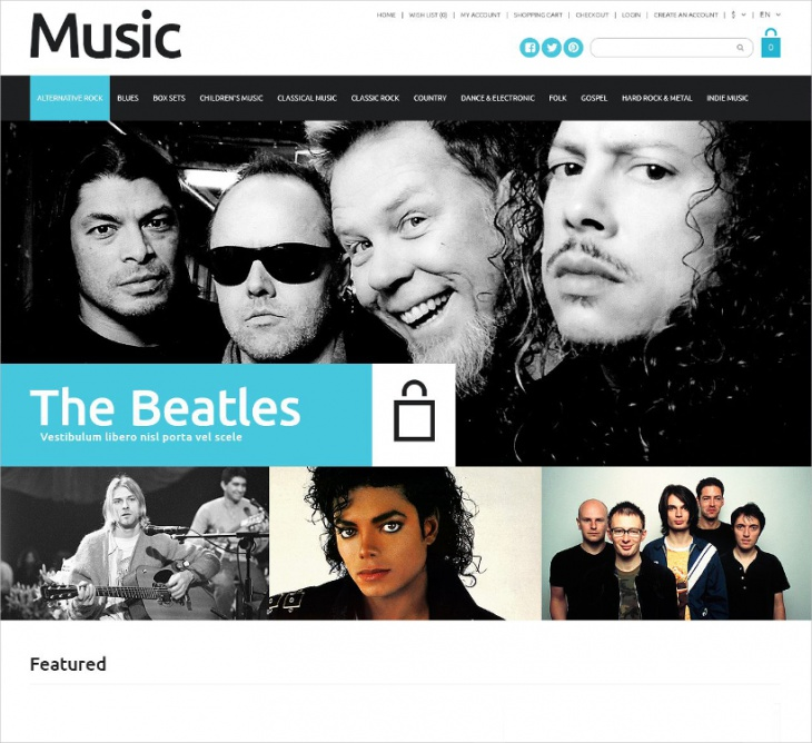 music sales opencart template