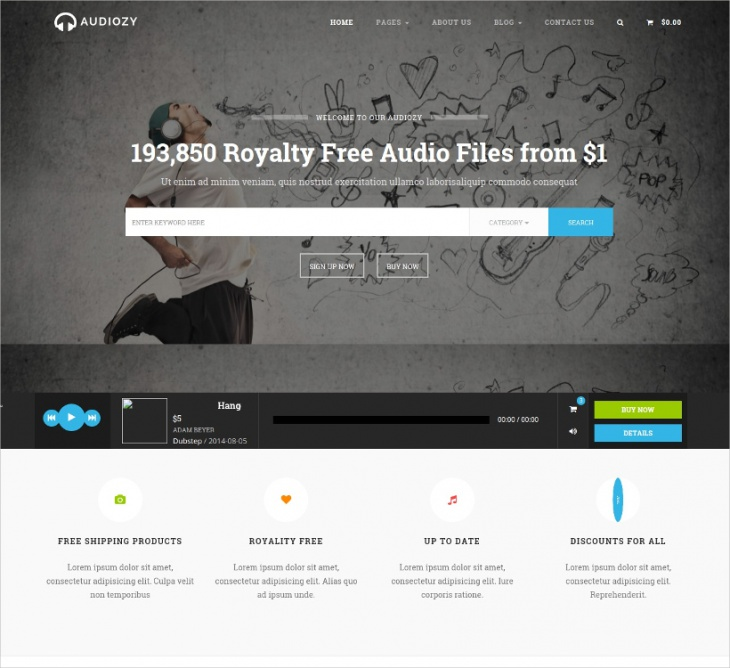 Music Store Html Template