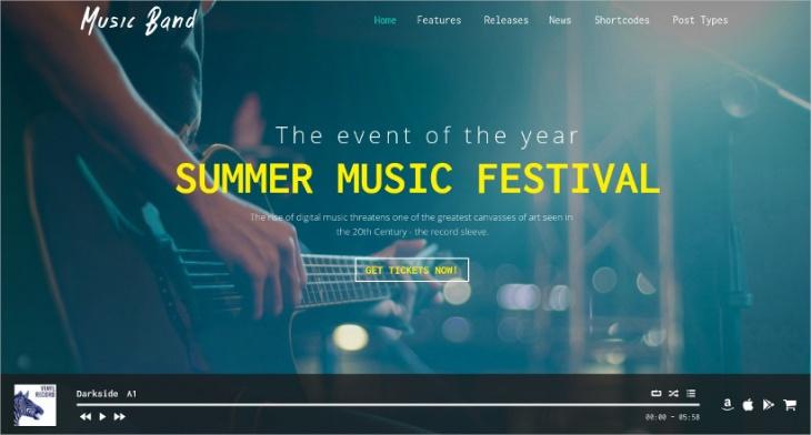 17 best music website themes templates design trends premium 17 best music website themes templates maxwellsz