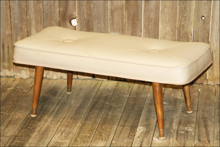 Danish Vintage Style Bench for Living Room