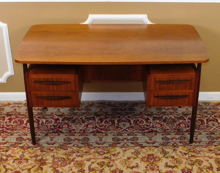 Danish 1970's Teak Desk with Book Cases