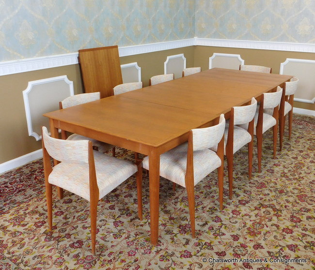Danish Vintage Dining Table with Chairs