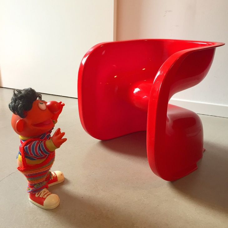 Danish Red Color Plastic Chair for Kids