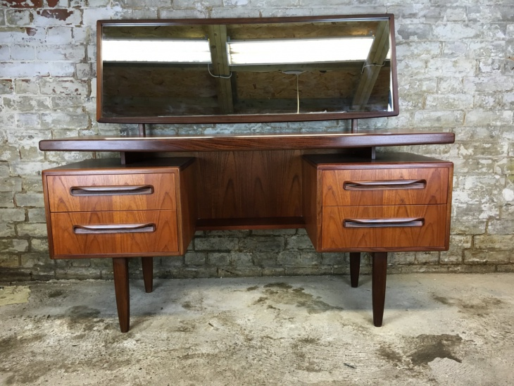 Danish Vintage Dressing Table with Mirror