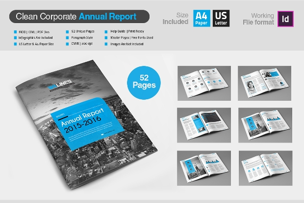 Clean Corporate Annual Report Brochure