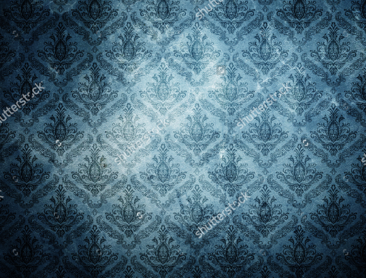 Damask Grunge Wallpaper Pattern
