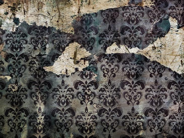 Grunge Damask Wallpaper Pattern