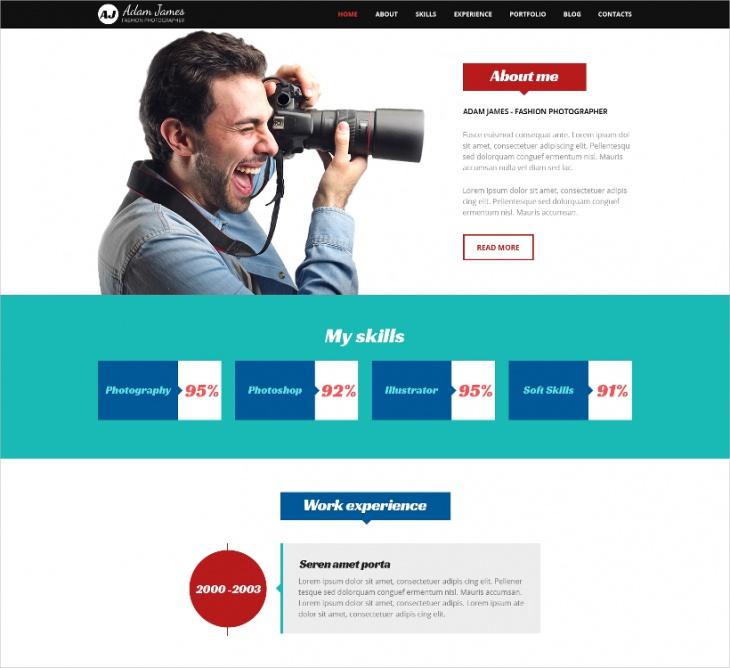 Fashion Photographer WordPress Theme