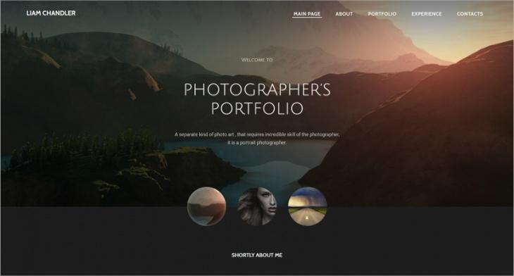 7 Best Photographer Website Themes Templates Design Trends Premium Psd Vector Downloads
