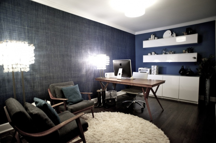 accent wall design for contemporary office