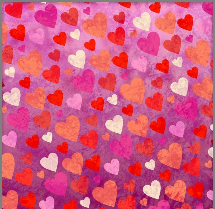 Heart Shape Wallpaper Pattern