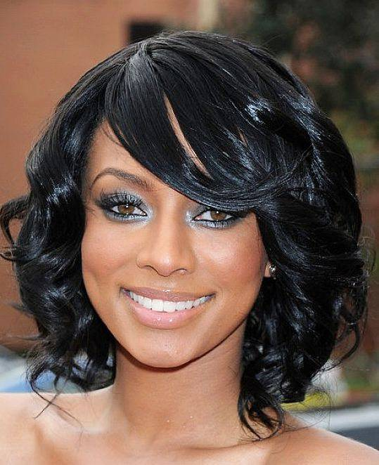 black hairstyles for medium hair