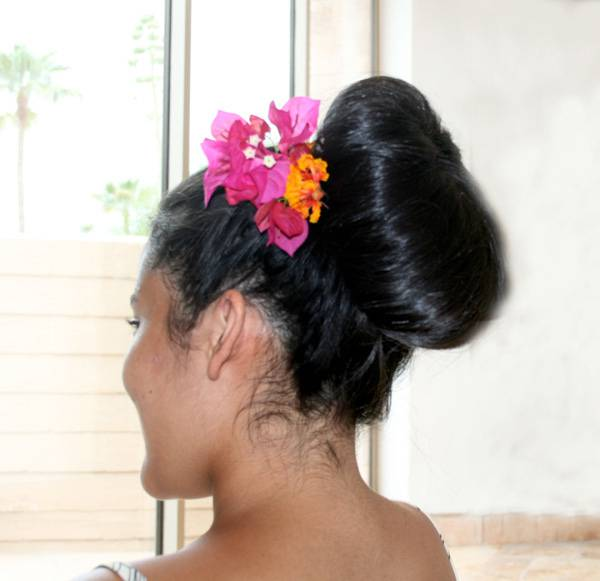 bun hairstyles for black hair