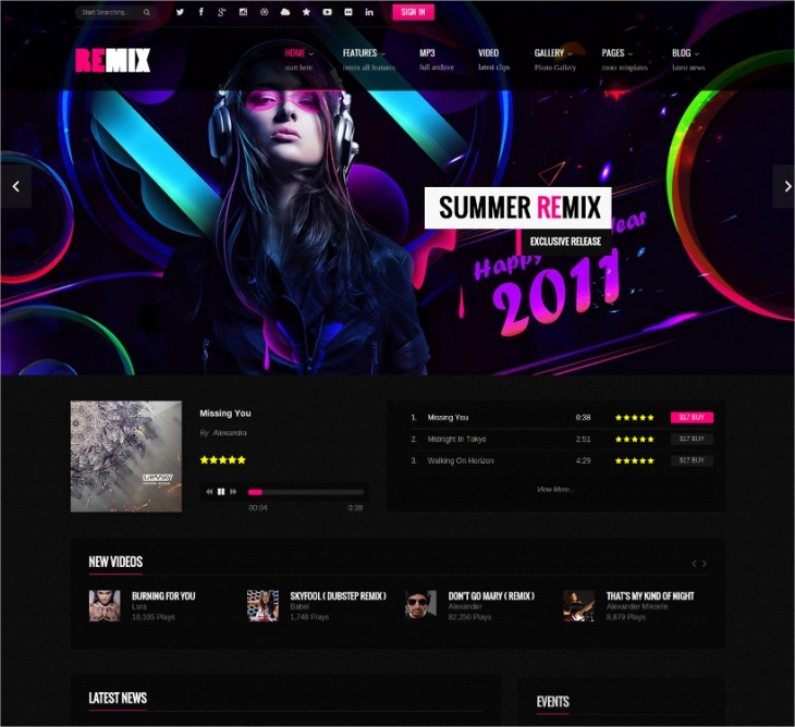band html5 template
