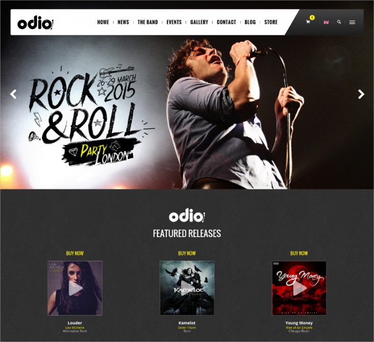 music wordpress theme for bands