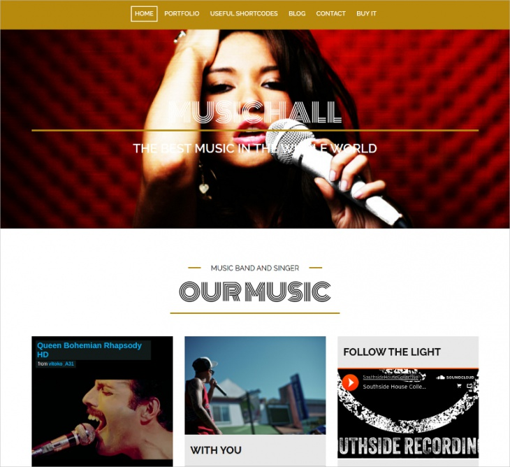 wordpress theme for musicians bands