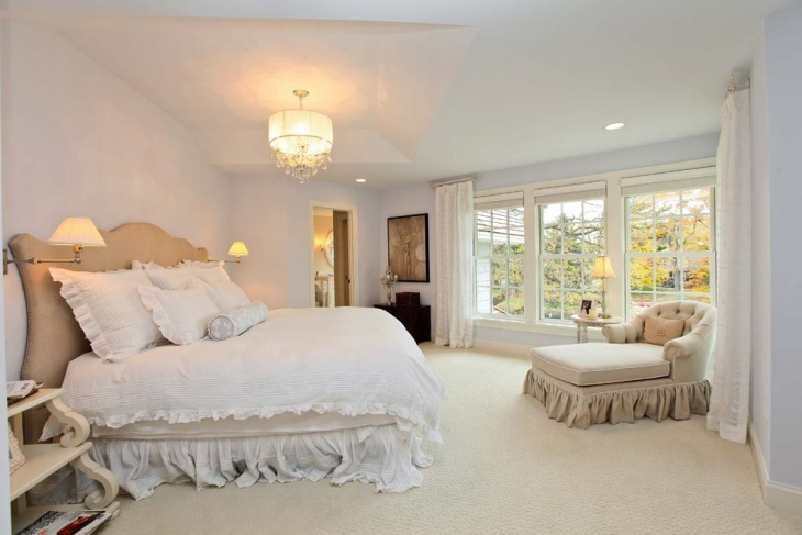 master bedroom with shabby chic style furniture