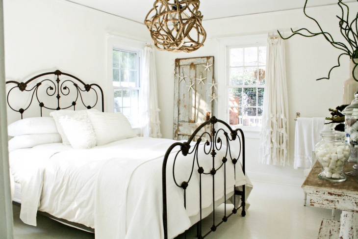unique shabby chic style bed
