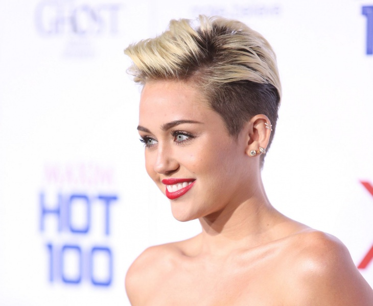 Miley Cyrus Short Fade Hair Style