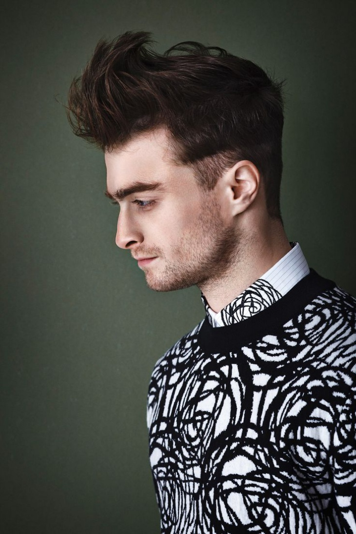 daniel radcliff fade haircut design