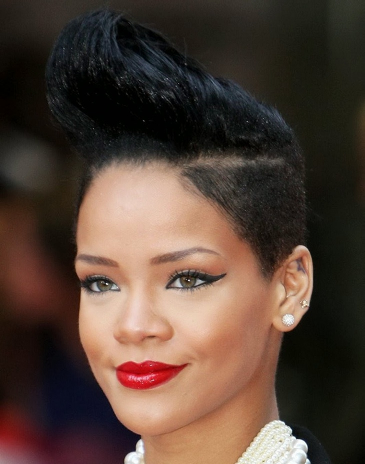 rihanna fade haircut ideas