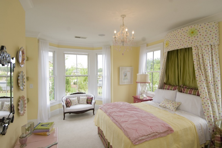 cute pastel bedroom design