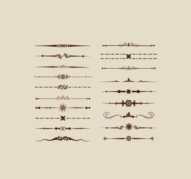 Divider Ornamental Brushes