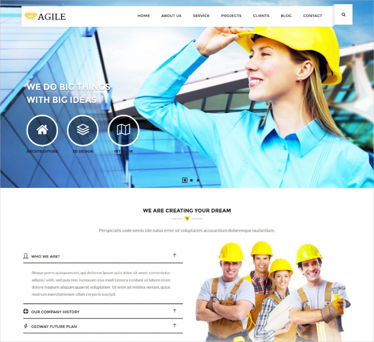 Agile Construction Website Template