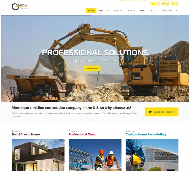 Constain Construction WordPress Theme