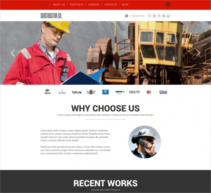 construction agency template