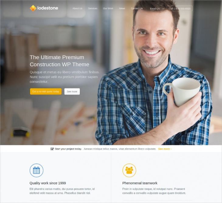 Construction & Builder WordPress Theme