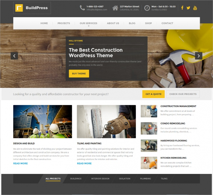 Construction Business WP Theme