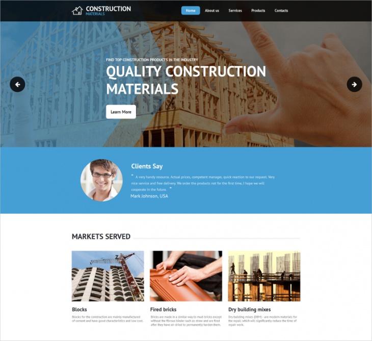 construction moto cms html template