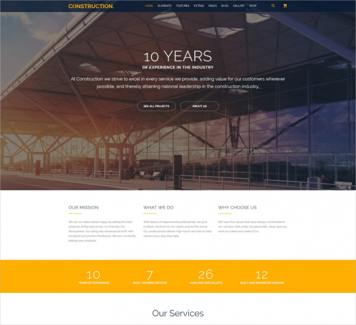 Construction Multipurpose Website Template
