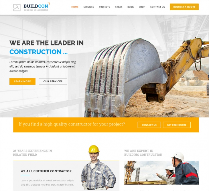 construction renovation html template
