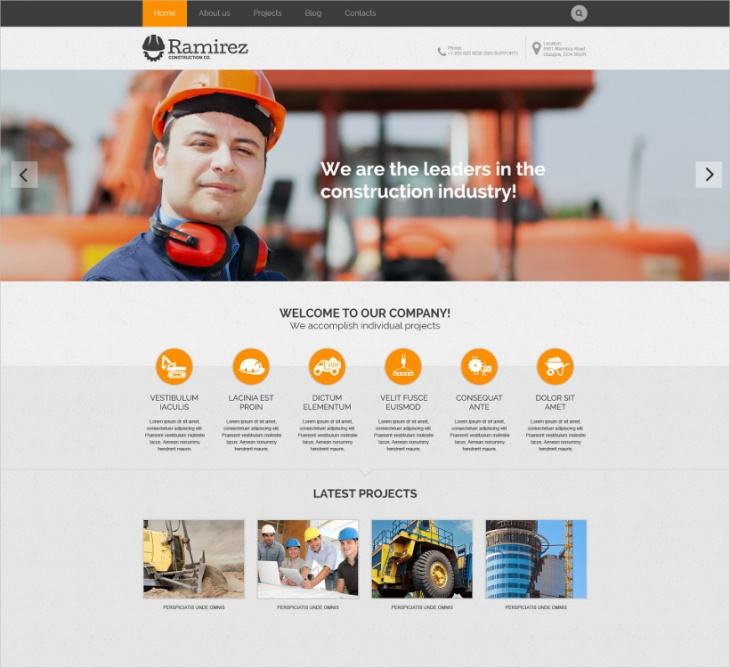 contractor workforce wordpress theme